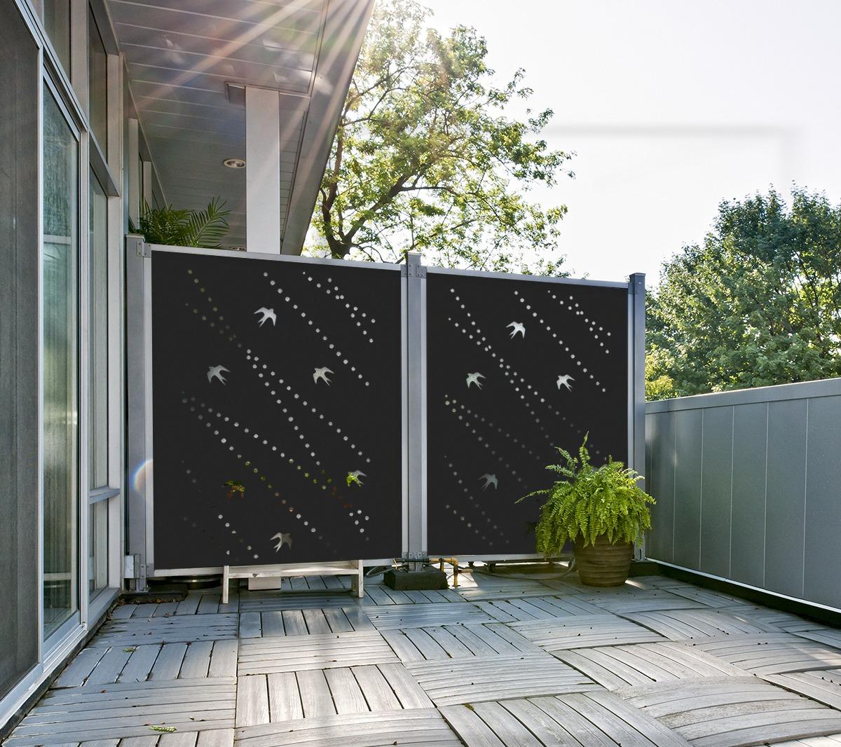 panneaux d coratifs ext rieurs pour toute intimit. Black Bedroom Furniture Sets. Home Design Ideas